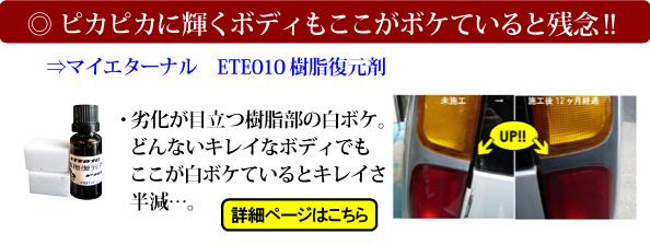マイエターナル 特集 ETE樹脂復元剤
